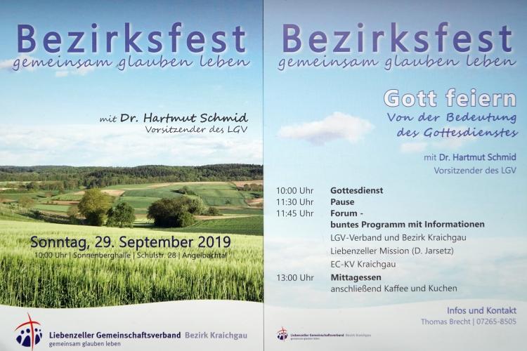 Flyer zum Bezirksfest 2019